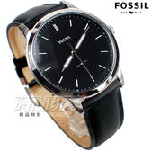 FOSSIL 城市風格 都會腕錶 薄型 真皮錶帶 男錶 中性錶 防水手錶 黑色 FS5398