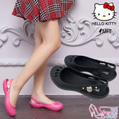 HELLO KITTY.MIT 凱蒂貓一體成型防水海灘娃娃涼包鞋.2色 黑/桃【鞋鞋俱樂部】【107-916122】