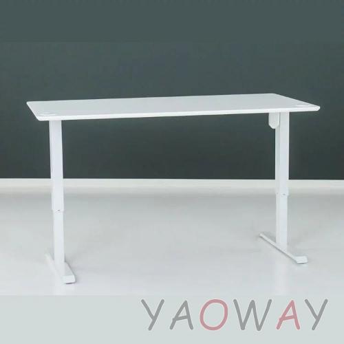 【耀偉】丹麥Conset康萊-電動升降桌501-33大張陶瓷白-含桌板138x68cm(工作桌/辦公桌/電腦桌/書桌)