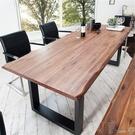 會議桌 簡易loft會議桌長桌實木大桌子辦公桌設計師工作臺洽談桌簡約現代【快速出貨】