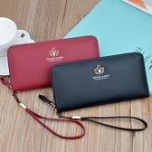 新款钱包女士长款简约时尚拉链包可放手机手拿包妈妈包大容量皮夹