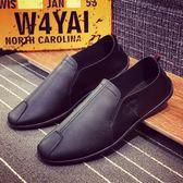 男鞋商務低筒鞋潮流休閒鞋 板鞋男皮鞋尖頭單鞋一腳蹬酷男 館