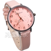 DUKE NICLE 尼克.公爵 彼得潘小仙子 童趣 時尚腕錶 高質感皮革 女錶 學生錶 D5102粉