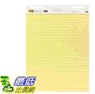 [COSCO代購] W127040 3M Post-it 可再貼黃色橫格自黏大海報2本 #561 - 625公釐 x 762公釐