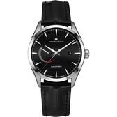 Hamilton 漢米爾頓 JAZZMASTER 爵士機械手錶-黑x銀/42mm H32635731