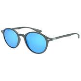 原廠公司貨-【Ray-Ban 雷朋】4237F-6206/17復古圓框雷朋太陽眼鏡/墨鏡(#玻璃鏡片-水銀藍鏡面)