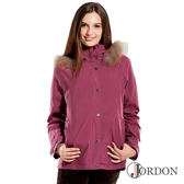 Jordon 女 GORE-TEX │防水│防風│透氣│羽絨 兩件式保暖外套1098『藤紫』