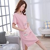 睡裙 睡裙女士夏季純棉睡衣學生薄款家居服韓版仙女風甜美連身裙子短袖 薇薇