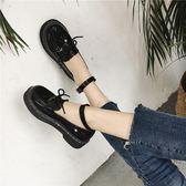 小皮鞋圓頭學院風韓版英倫娃娃鞋女