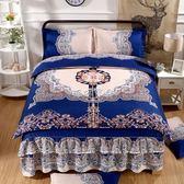 婚慶床上用品 加厚磨毛婚慶床裙床罩四件套床套床上用品被套一件 珍妮寶貝