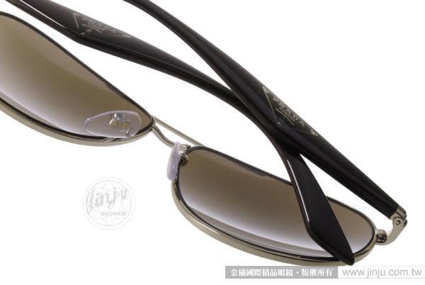 PRADA太陽眼鏡 SPR53Q ZVN1X1 (金-棕) 歐美時尚百搭飛官款 # 金橘眼鏡