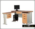 {{ 海中天休閒傢俱廣場 }} C-22 摩登時尚 辦公桌系列 184-23 CD秘書桌-160cm(木紋檯面)
