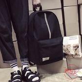 港風韓版時尚青少年包包簡約反光雙肩背包休閒潮男帆布雙肩包書包男【無敵3C旗艦店】
