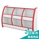書櫃 收納櫃【收納屋】小木偶六格收納櫃-紅白&DIY組合傢俱