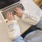 袖套 韓版可愛袖套女ins潮簡約套袖護袖秋冬季成人短款學生手袖頭防臟 歐歐