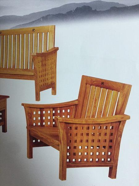 【新精品】KL-15 柚木方格子組椅 需搭配車趟費