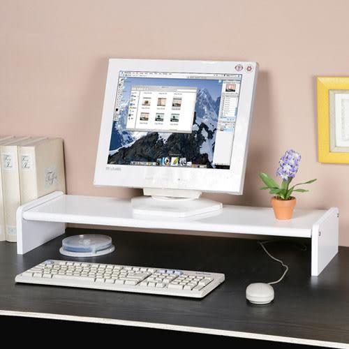 桌上架《YoStyle》伸縮式桌上型置物架 (白色) 書架 螢幕架 萬用架
