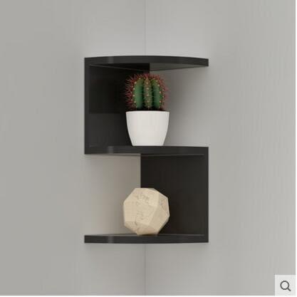 【三層】扇形搁板墙角书架墙上置物架搁架收纳架壁挂