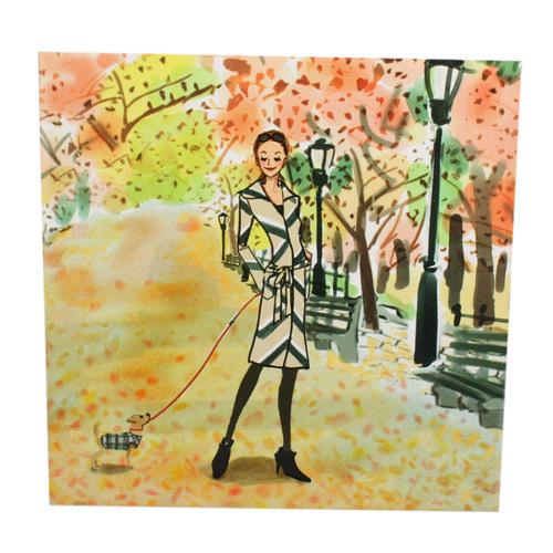 Reiko Aoki青木禮子 Autumn-in-NY彩繪隔熱墊730906-29