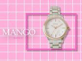 【時間道】MANGO時尚典雅晶鑽刻度腕錶 / 粉貝面玫瑰金框鋼帶 (MA6720L-11)免運費