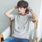 短袖男夏季男裝連帽半袖學生韓版衛衣寬鬆