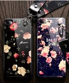 iPhone 7 Plus 手機殼 全包防摔保護套 復古花 玫瑰 全包矽膠軟殼 附送掛繩 保護殼 手機套 iPhone7