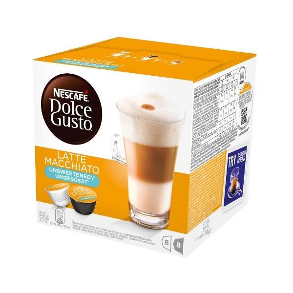 雀巢 無糖拿鐵咖啡膠囊(Latte Macchiato Unsweetened) 16顆/盒 (促銷活動滿6盒折價90元)