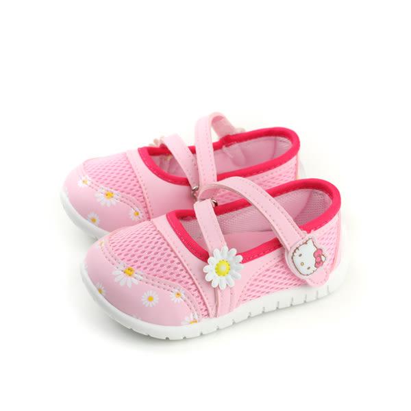 Hello Kitty 凱蒂貓 娃娃鞋 魔鬼氈 粉紅色 小童 童鞋 718612 no755
