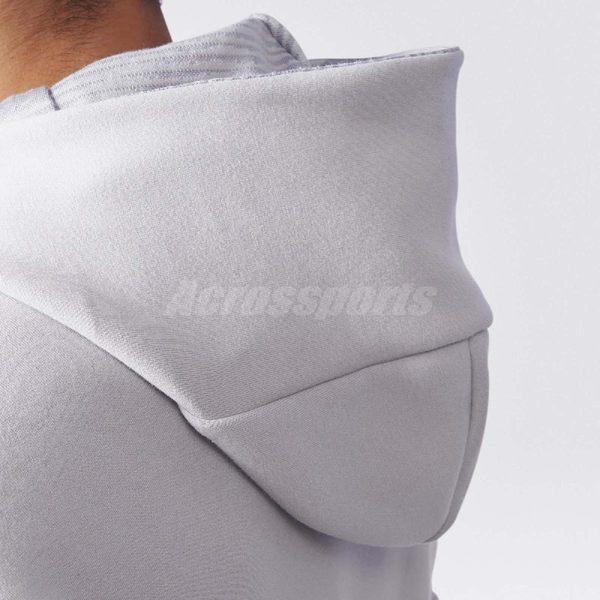 adidas 連帽外套 Z.N.E. HOOD2 PULSE 長袖上衣 帽踢 連帽夾克 運動 經典 男款 灰 【PUMP306】 BQ0074