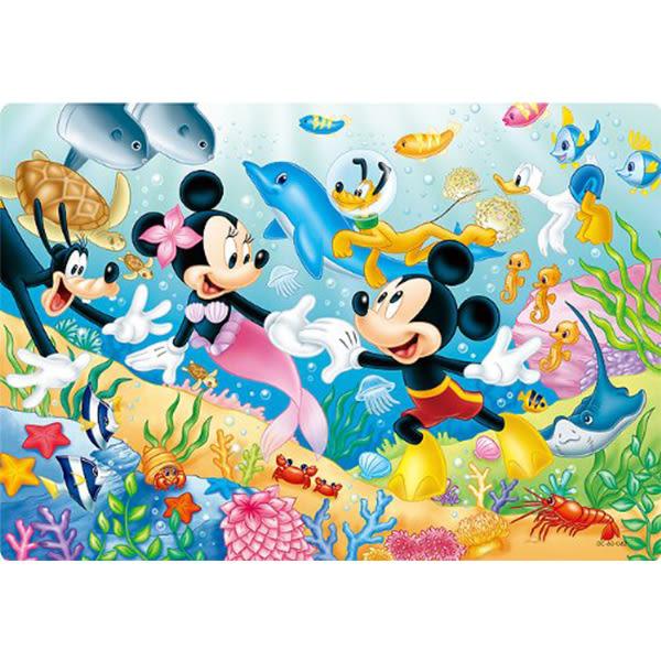 【日本進口拼圖】迪士尼 DISNEY-米奇米妮海洋世界 60片大片紙板拼圖 DC-60-042