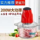 絞肉機電動 絞肉機家用電動小型多功能餃肉打餡剁辣椒神器攪拌自動切菜碎肉機