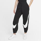 Nike SPORTSWEAR SWOOSH 女裝 長褲 慢跑 刷毛 口袋 縮口 黑【運動世界】DD5583-010