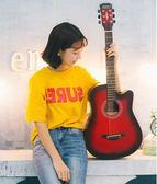 吉它吉他38寸初學者民謠木吉他學生練習青少年入門男女練習新手  提拉米蘇