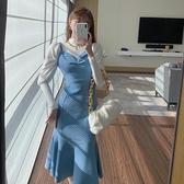 魚尾裙 吊帶連衣裙2021年新款女裝春性感收腰顯瘦爆款溫柔氣質魚尾裙子【快速出貨八折鉅惠】