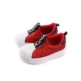 CONNIFE 童鞋 懶人鞋 休閒鞋 亮片 紅色 小童 B293-20 no515