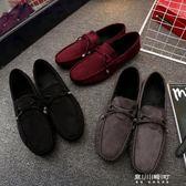 新款秋季豆豆鞋男鞋英倫男士休閒鞋皮鞋韓版潮流男單鞋樂福鞋   東川崎町