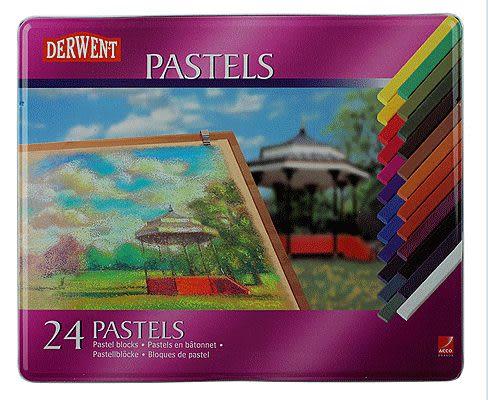 英國Derwent Pastel Pencils系列24色彩色粉彩筆*36004