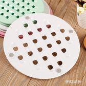 餐桌隔熱墊圓形餐桌隔熱墊二片裝碗墊盤墊鍋墊 JH2395『夢幻家居』