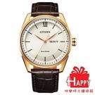 日本CITIZEN星辰 時尚光動能男腕錶 AW0082-19A 金X咖啡