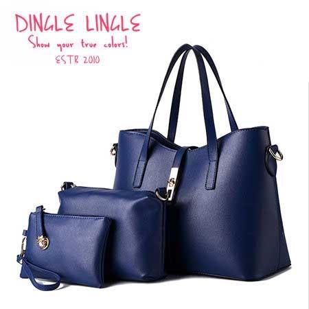 DingleLingle丁果時尚包款ღ金屬轉釦斜背包 三件式套組*7色