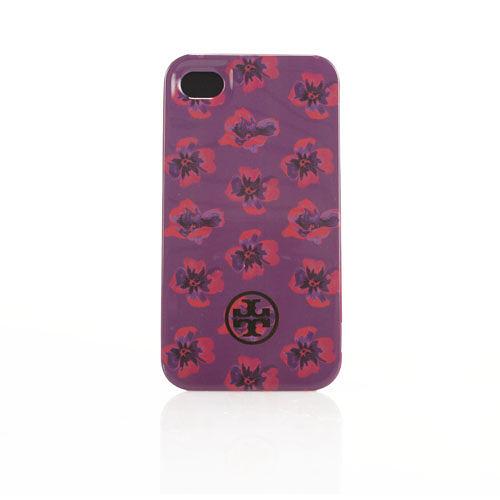 TORY BURCH彩繪花卉iPhone4/4S手機保護殼(紫色)151011