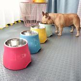 寵物餐具 休普高腳狗碗寵物碗狗狗食盆 中型犬 小型犬 飲水碗 不銹鋼狗食盆·夏茉生活