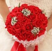新娘手捧花結婚新款仿真韓式婚禮玫瑰花束