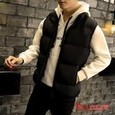羽絨背心 男士馬甲秋冬季韓版潮流青年羽絨棉加厚保暖背心外套無袖坎肩馬甲 3色