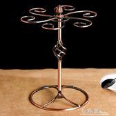 歐式復古紅酒杯架擺件∣家用可拆裝酒架倒掛高腳杯架子創意掛6只     檸檬衣舍