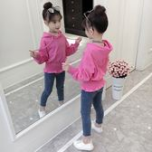 女童秋裝套裝2018新款韓版中大兒童裝女孩洋氣時髦牛仔褲兩件套潮
