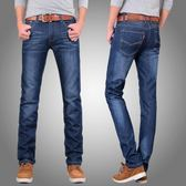 春季男士修身牛仔褲男直筒寬鬆大碼青年褲子男韓版潮流夏季薄梗豆物語