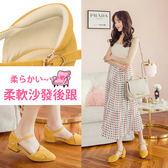 Ann'S優雅秘訣-造型方結繫帶低跟尖頭鞋-芥末黃