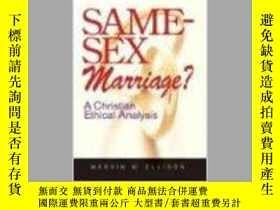 二手書博民逛書店Same-Sex罕見Marriage?: A Christian