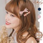 髮飾 韓國直送蝴蝶結愛心水晶珍珠髮夾兩件組-Ruby s 露比午茶
